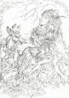 Titania (Line art) by Taski-Guru