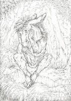 Bottom (Line art) by Taski-Guru