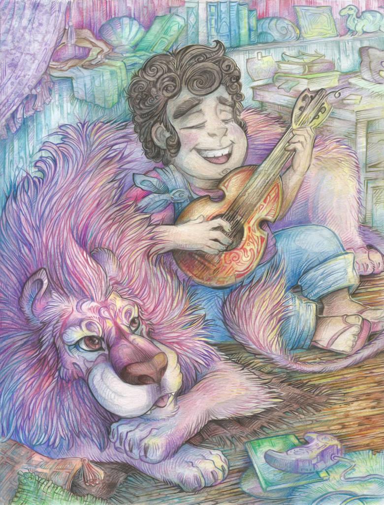 Steven and Lion by Taski-Guru