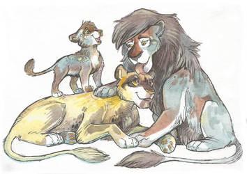 Feline (Family) Adopt #24 (10$) [SOLD] by Taski-Guru