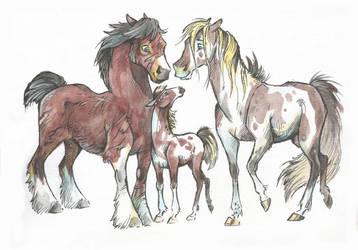 Horse (Family) Adopt #29 (10$) [SOLD] by Taski-Guru