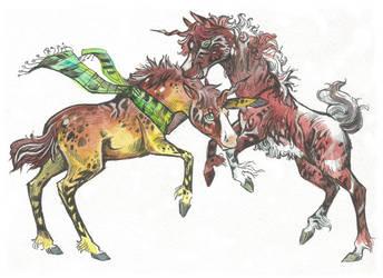 Unicorn (Siblings) Adopt #47 (10$) [CLOSED] by Taski-Guru