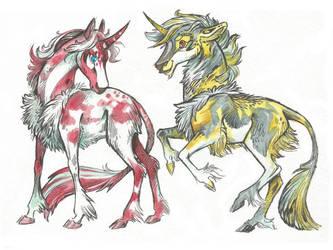 Unicorn (Siblings) Adopt #45 (10$) [SOLD] by Taski-Guru