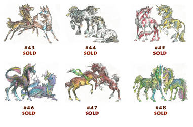 Unicorn (Siblings) Adoptables Sale (10$) [CLOSED] by Taski-Guru