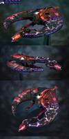 Necron DoomScythe: 40k fighter by Atropos907