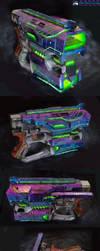 Nerf Diatron: Halo Covenant Heavy Plasma Pistol by Atropos907