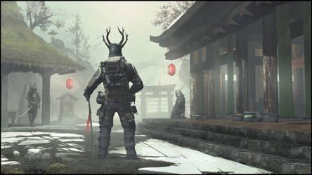 Radioactive Japan #2 - Mountain Monastery by Crazy-Knife