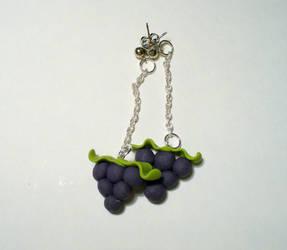 Grape Earrings by paperfaceparade