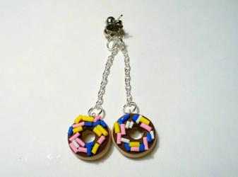 Donut Earrings by paperfaceparade