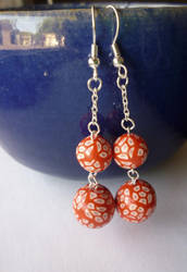 Polymer Clay Millefiori Earrings ~ For sale! by paperfaceparade