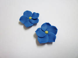 Forget-me-not earrings by paperfaceparade