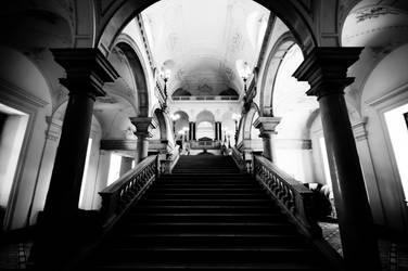 Staircase in Vienna's Uni by GlueR