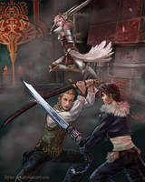 Dissidia Aces:  Vs Squall by Leyna-art