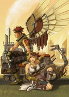 Wai-con: Steampunk Mascots by Risachantag