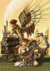Wai-con: Steampunk Mascots by Risachantag