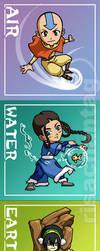 Avatar: Five Elements Chibis by Risachantag
