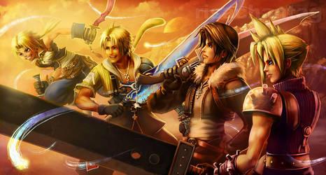 FFDissidia: Four Heroes by Risachantag