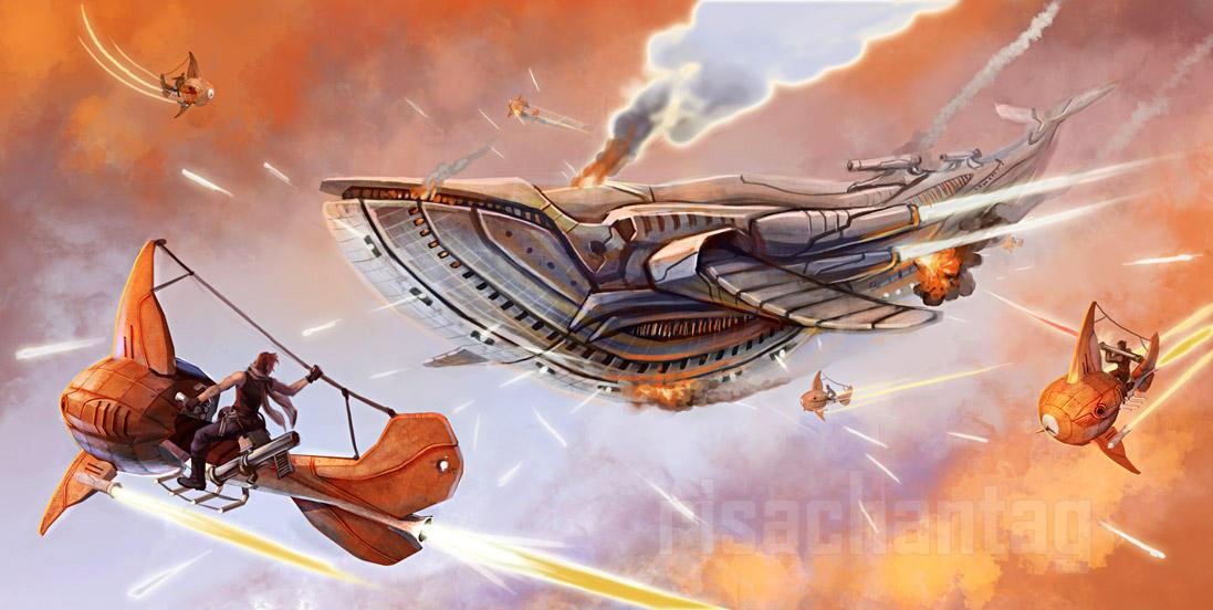 Original: Goldfish Pirates by Risachantag