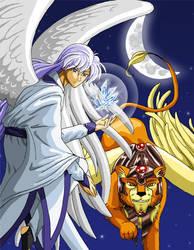 Yue and Keroberos by Risachantag