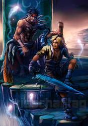 FFX Dissidia: Jecht and Tidus by Risachantag
