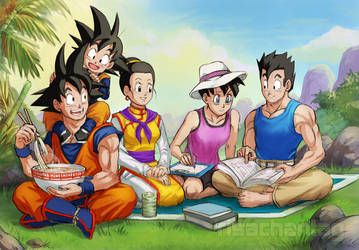 DBZ: Son Family by Risachantag