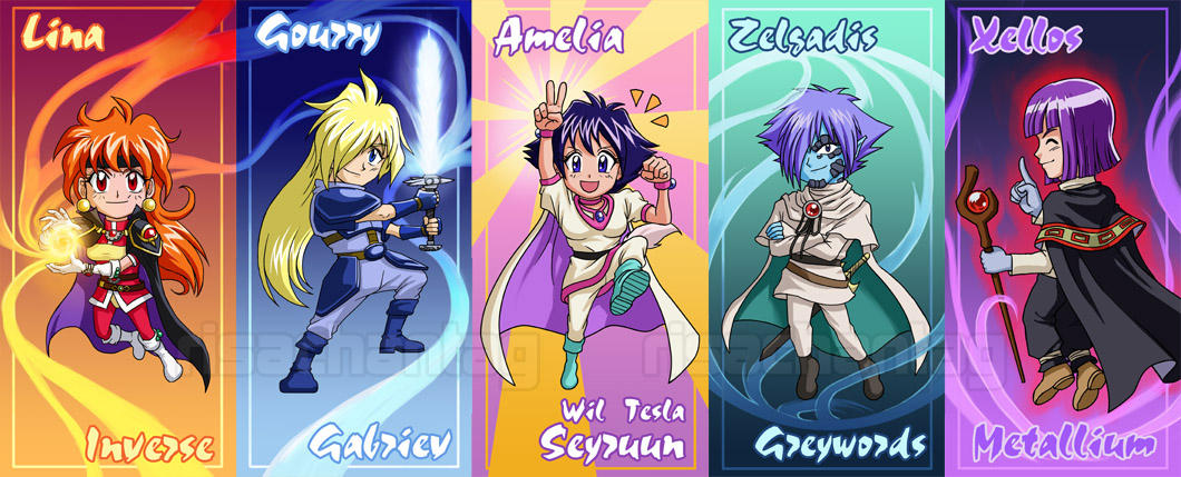 Slayers: Chibi Set by Risachantag