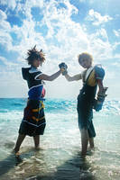 CosPhoto: Tidus+Sora: Friends by Risachantag