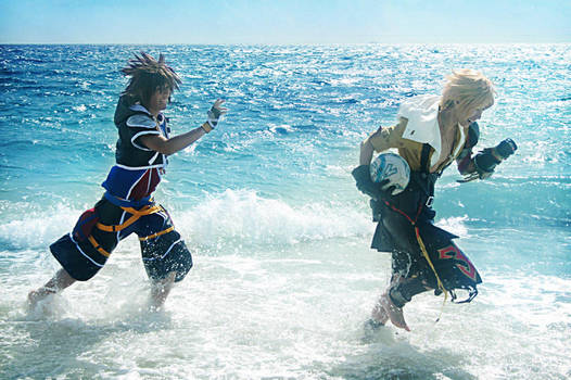 CosPhoto: Sora + Tidus Chase by Risachantag