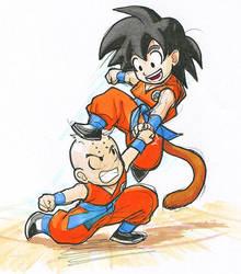 DB: Goku and Kuririn by Risachantag
