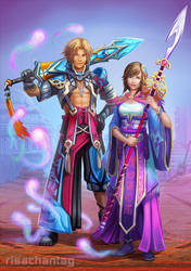 FFX: Tidus and Yuna Redesign by Risachantag