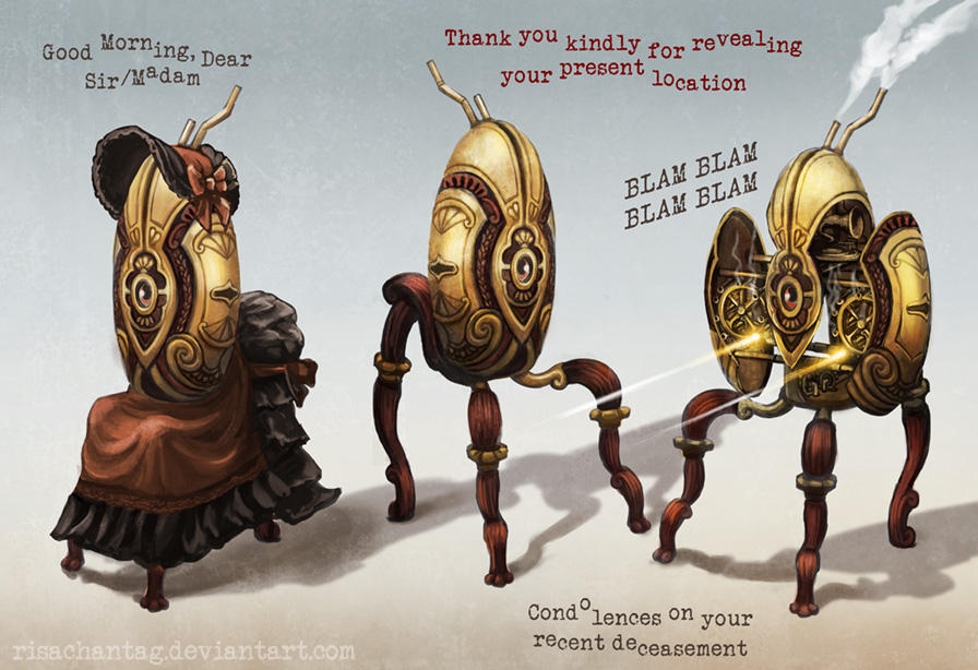 Steampunk Portal: The Gentry Turret by Risachantag