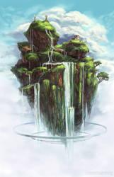 Waterfall Island by Risachantag