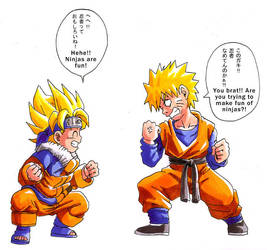 DBZ+Naruto: Happy Halloween by Risachantag