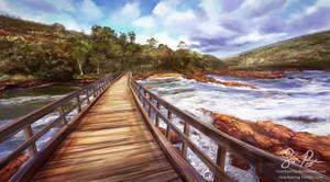 Virtual Plein Air: Bells Rapids by Risachantag