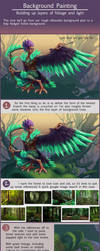Harpy Background Painting Tutorial by Risachantag