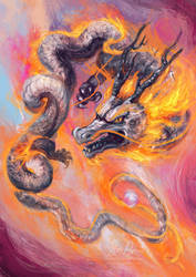 Silver Dragon by Risachantag