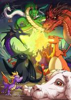 Dragons by Risachantag