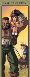 FFVII: Barret and Cid by Risachantag