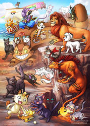 Pop Culture Cats by Risachantag
