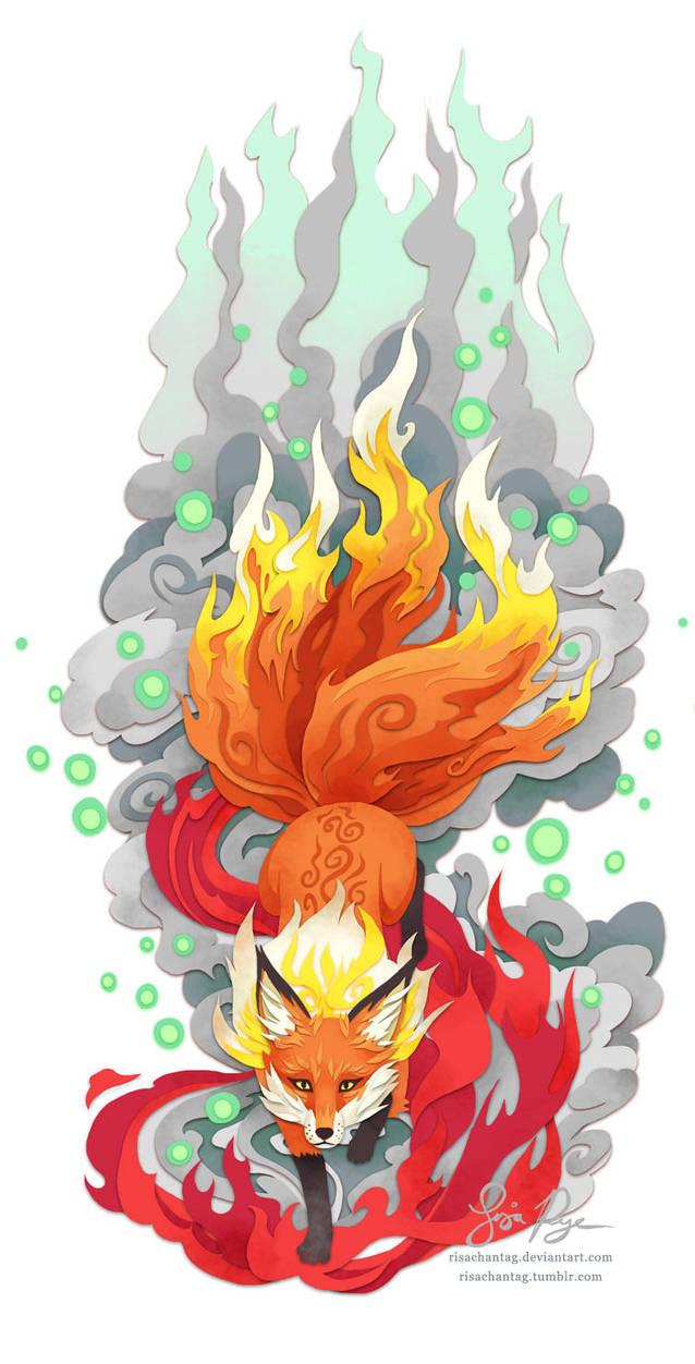Fox Fire by Risachantag