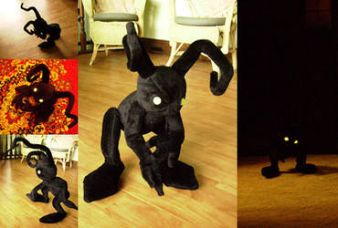 KH: Shadow Heartless Plushie by Risachantag