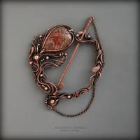 brooch jasper by KL-WireDream