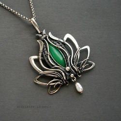 Green lotus by KL-WireDream