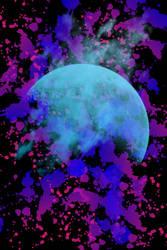 Moon splatter wallpaper by ErzaLovee