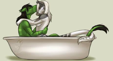 Bathtub Snuggles by Icy-Marth