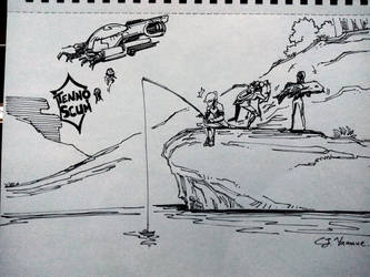 Inktober 2018, Day 20: Daily Life on the Plain by CJyamaue