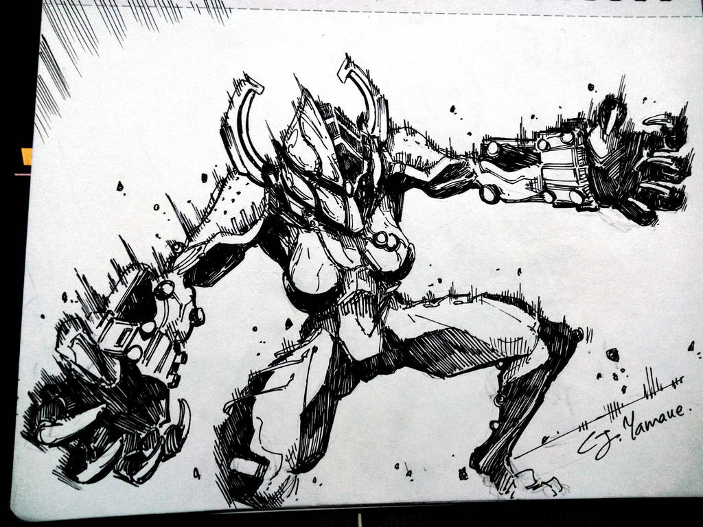 Inktober 2018, Day 29: Rage Demon by CJyamaue