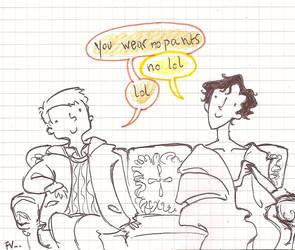 Sherlock silly something by MiniaFla