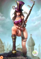Caitlyn Sexy League of Legends by Didi-Esmeralda