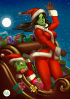 SheHulk Merry Christmas by Didi-Esmeralda